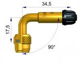 Латунный изогнутый жесткий удлинитель   R-1197-2