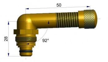 Вентиль длина 50 мм. R-0823-1